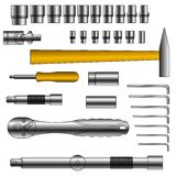 Vector set of different tools Stock Photography