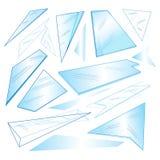 Vector set of different transparent glass Stock Photos