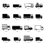 Vector set of different truck icons. Royalty Free Stock Photos