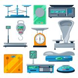 Vector set of different types of scales Stock Photo
