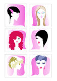 Vector set of different women app icons Stock Photos
