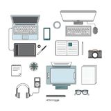Vector set of digital devices Stock Photography