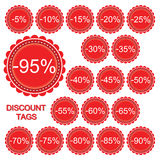 Vector set of discount tags Stock Photo
