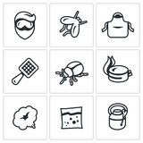 Vector Set of Disinfection Icons.  Stock Image
