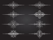 Vector set of dividers page or text. Royalty Free Stock Image