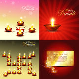 Vector set of diwali background Stock Photos