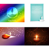 Vector set of diwali background Royalty Free Stock Photo