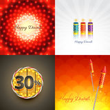 Vector set of diwali background illustration Stock Photo