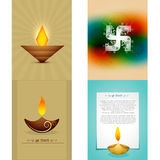 Vector set of diwali background illustration Stock Photography