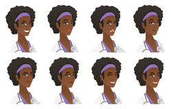 Vector set of doctor characters. Royalty Free Stock Images