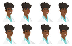 Vector set of doctor characters. Royalty Free Stock Photography