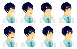 Vector set of doctor characters. Royalty Free Stock Photo