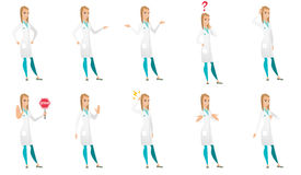 Vector set of doctor characters. Stock Image