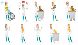 Vector set of doctor characters. Stock Photo