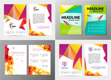 Vector set of document, letter or logo style cover brochure and letterhead template design mockup  for business Royalty Free Stock Photo