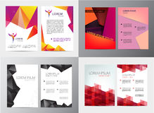 Vector set of document, letter or logo style cover brochure and letterhead template design mockup  for business Stock Photos