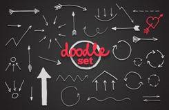 Vector set of doodle arrows Royalty Free Stock Photos