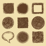 Vector set with doodle backgrounds and frames Stock Images