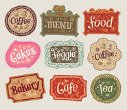 Vector set of doodle labels Stock Photo