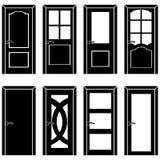 Vector set of 8 door icons Stock Photos