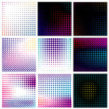 Vector set of dotted halftone background Royalty Free Stock Images