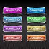 Vector set of download buttons Stock Photo