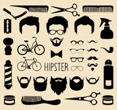 Vector set of dress up with men hipster haircuts etc.in flat style.App man faces creator with hairdresser salon elements. Big vector set of dress up with stock illustration
