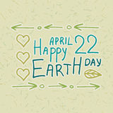 A vector set  for Earth Day.sketch illustration of planet earth, Stock Image