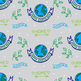 A vector set  for Earth Day.sketch illustration of planet earth, Stock Images