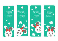 Vector set of Easter bookmark. Happy Easter, rabbit. Stock Photo