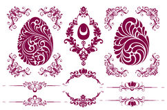 Vector set of Easter decorative ornamental page decoration design elements Stock Image