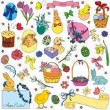 Vector set of Easter symbols Stock Photography