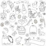 Vector set of Easter symbols Stock Photo