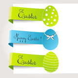 Vector set of easter tags