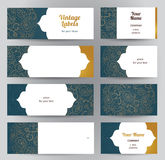 Vector set of Eastern cards and labels. Stock Images