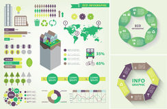 Vector set of eco infographic Stock Image