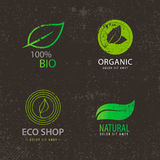 Vector set of eco logos, leaves, organic Stock Image