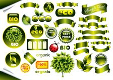 Vector set of ecological elements Stock Images