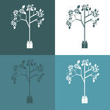 Vector set of ecological symbol illustrations Royalty Free Stock Photo