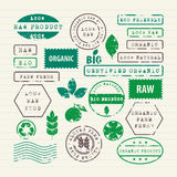 Vector set of ecology healthy food and environment Royalty Free Stock Photos