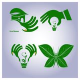 Vector set of ecology icons Stock Photography
