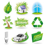 Vector set. Ecology icons. Royalty Free Stock Photos