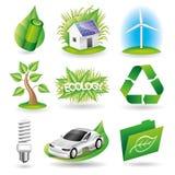 Vector set. Ecology icons. royalty free illustration