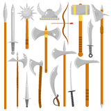 Vector set of edged weapons. Royalty Free Stock Photography