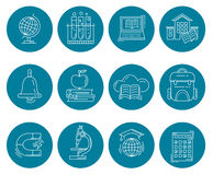 Vector set of education icons Royalty Free Stock Photo