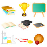 Vector set of educational symbol. Elements of education with all useful symbols that we can use in any layout Stock Photography