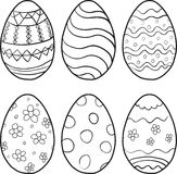 Vector set of eggs for Easter Stock Photography