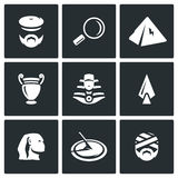 Vector Set of Egypt Icons.  Royalty Free Stock Images