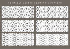 Vector set of eight seamless patterns. Royalty Free Stock Images