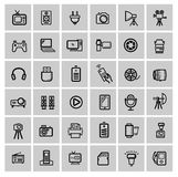 Vector set of electronic devices Royalty Free Stock Photography